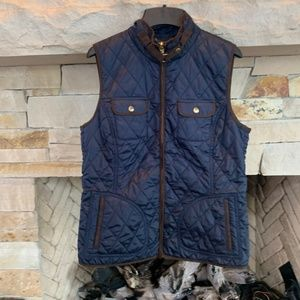 Banana Republic Navy Quilted Vest, M